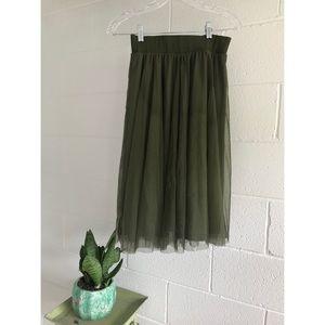 Dresses & Skirts - Army green tool skirt